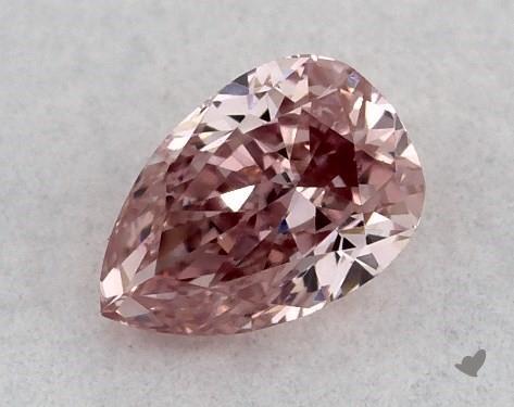 0.15 Carat FANCY INTENSE  PINK Pear Shape Diamond
