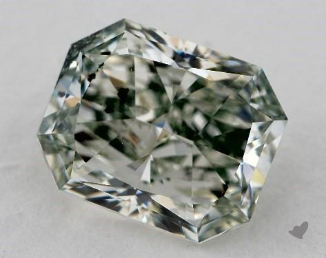 2.03 Carat fancy green-SI2 Radiant Cut Diamond