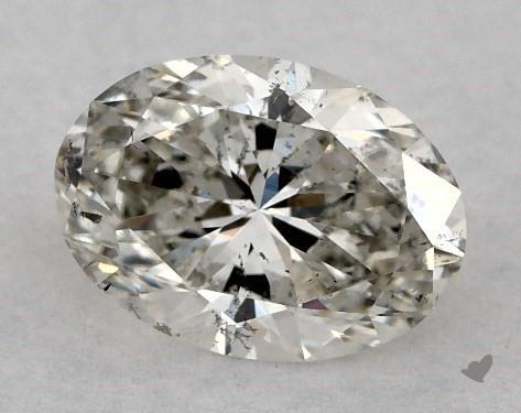 0.70 Carat H-SI2 Oval Cut Diamond