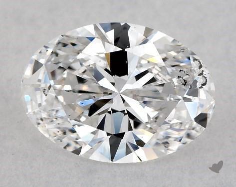 0.71 Carat D-I1 Oval Cut Diamond