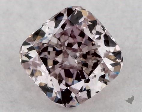 0.25 Carat FANCY BROWNISH PINK-SI1 Cushion Modified Cut Diamond
