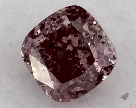 0.26 Carat FANCY BROWNISH PINK-I1 Cushion Modified Cut Diamond