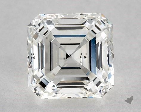 3.70 Carat H-SI1 Square Emerald Cut Diamond