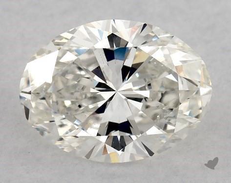 2.00 Carat H-VS2 Oval Cut Diamond