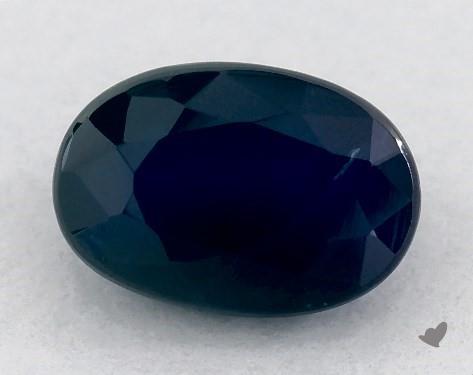 <b>0.71</b> carat Oval Natural Blue Sapphire