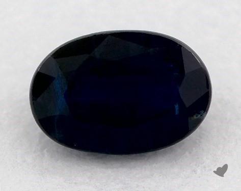 <b>0.74</b> carat Oval Natural Blue Sapphire