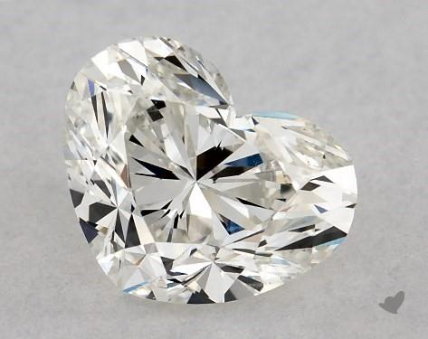 0.91 Carat H-VS2 Heart Shape Diamond