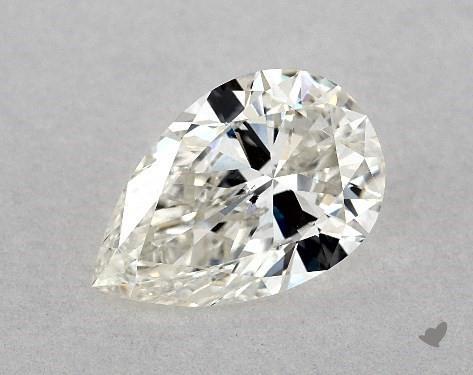 1.00 Carat H-SI1 Pear Shape Diamond