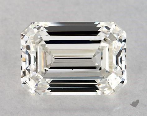 3.02 Carat H-VS1 Emerald Cut Diamond