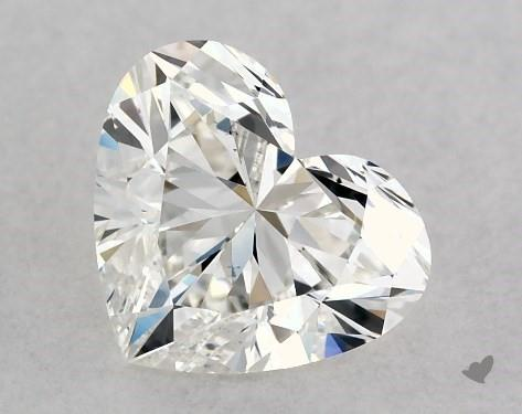 0.76 Carat H-VS2 Heart Shape Diamond