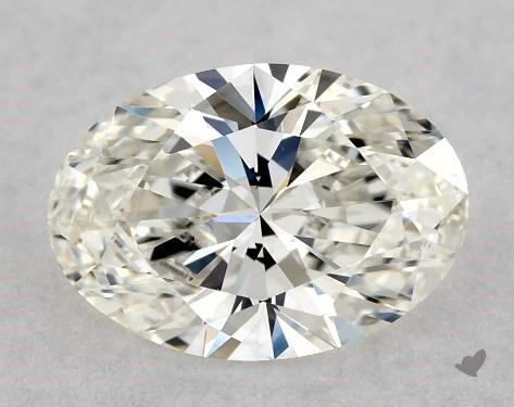 0.76 Carat H-VS1 Oval Cut Diamond