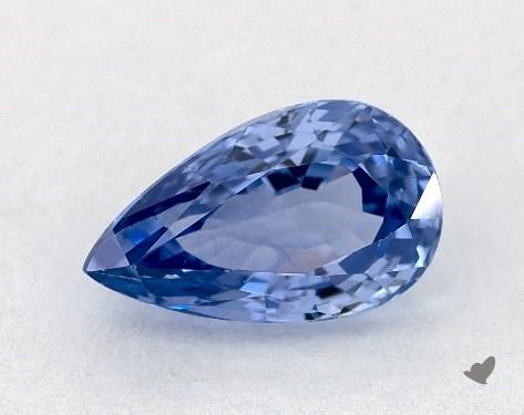 <b>0.91</b> carat Pear Natural Blue Sapphire