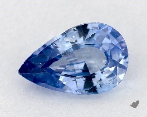 <b>0.93</b> carat Pear Natural Blue Sapphire