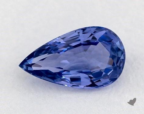 <b>0.97</b> carat Pear Natural Blue Sapphire