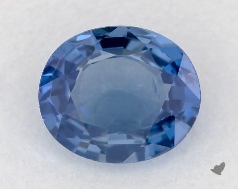 <b>0.82</b> carat Oval Natural Blue Sapphire
