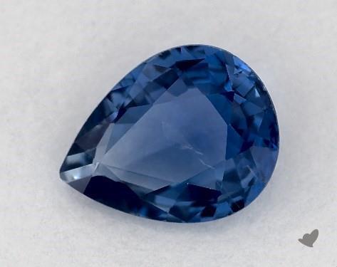 <b>0.71</b> carat Pear Natural Blue Sapphire