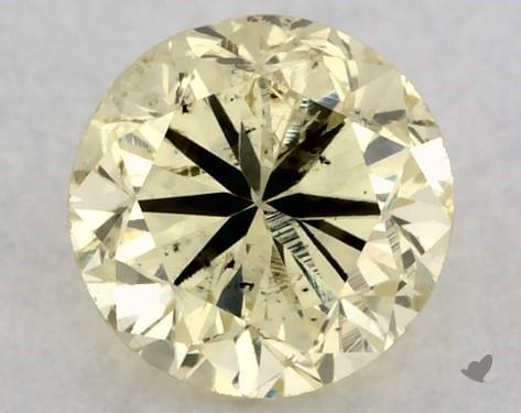 0.27 Carat FANCY  YELLOW-I1 Round Cut Diamond