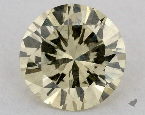 0.39 Carat FANCY  YELLOW-I1 Round Cut Diamond