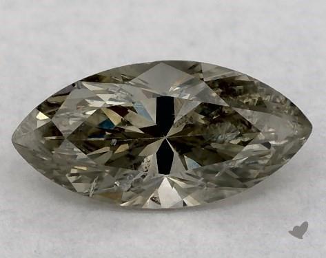 0.45 Carat FANCY  GRAY-I1 Marquise Cut Diamond
