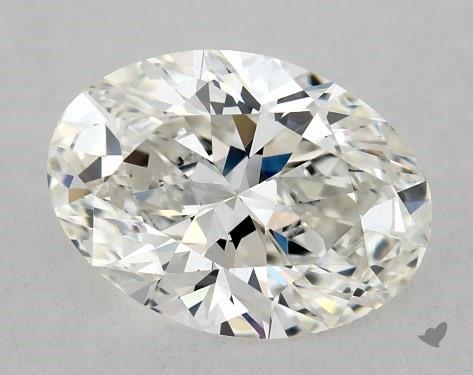 0.73 Carat H-VS1 Oval Cut Diamond