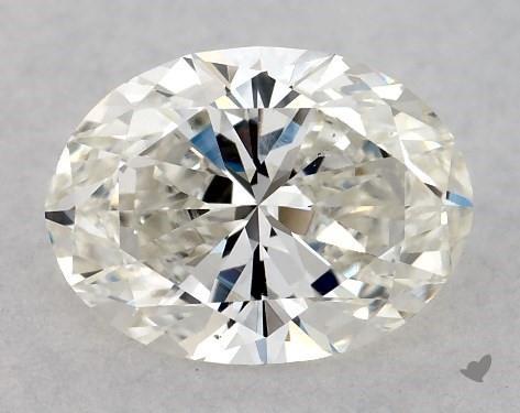 0.90 Carat H-VS2 Oval Cut Diamond
