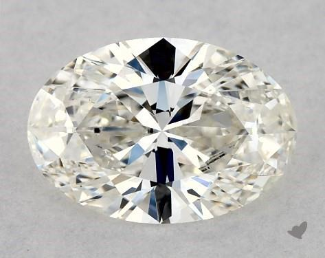 0.71 Carat H-VS1 Oval Cut Diamond