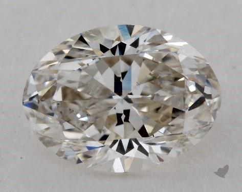 1.00 Carat I-SI1 Oval Cut Diamond