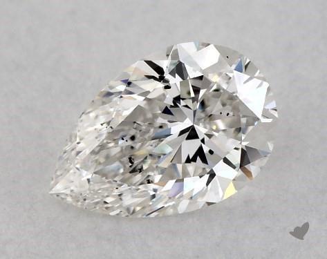 0.51 Carat H-SI2 Pear Shape Diamond