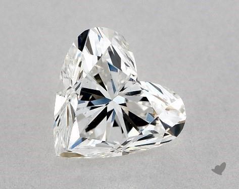 1.01 Carat F-SI1 Heart Shape Diamond