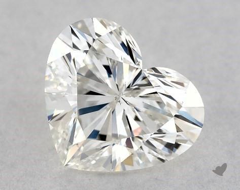 0.71 Carat H-VS2 Heart Shape Diamond