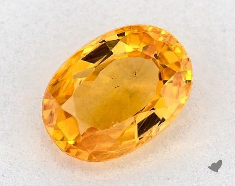 1.24 carat Oval Natural Yellow Sapphire