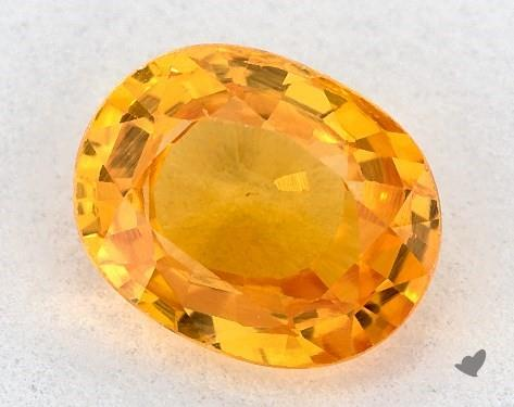 1.28 carat Oval Natural Yellow Sapphire