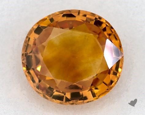 <b>1.42</b> carat Oval Natural Yellow Sapphire