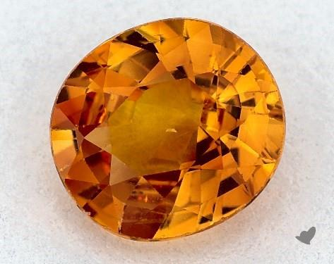 1.44 carat Oval Natural Yellow Sapphire