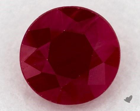 0.89 carat Round Natural Ruby
