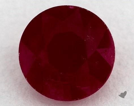 1.04 carat Round Natural Ruby
