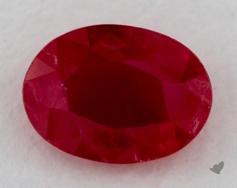<b>0.84</b> carat Oval Natural Ruby