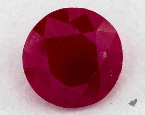 0.81 carat Round Natural Ruby