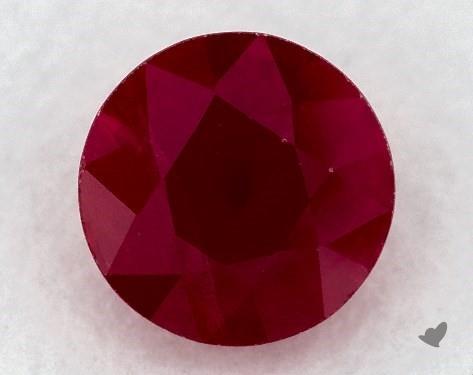 <b>0.85</b> carat Round Natural Ruby