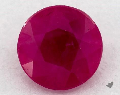 <b>1.01</b> carat Round Natural Ruby