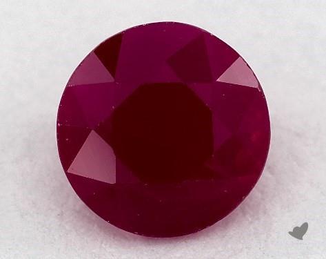 1.02 carat Round Natural Ruby