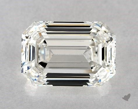 4.02 Carat H-VS1 Emerald Cut Diamond