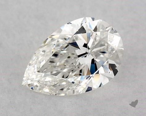 0.97 Carat H-VS2 Pear Shape Diamond