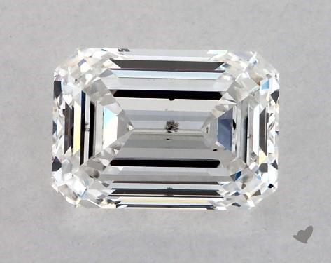 1.02 Carat F-SI1 Emerald Cut Diamond