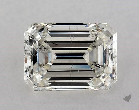 3.04 Carat H-SI2 Emerald Cut Diamond