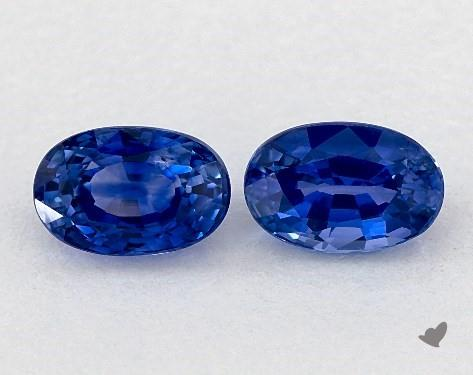 <b>1.40</b> Total Carat Weight Oval Natural Blue Sapphires