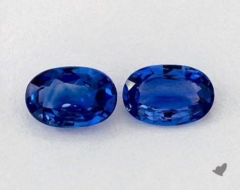 <b>1.18</b> Total Carat Weight Oval Natural Blue Sapphires
