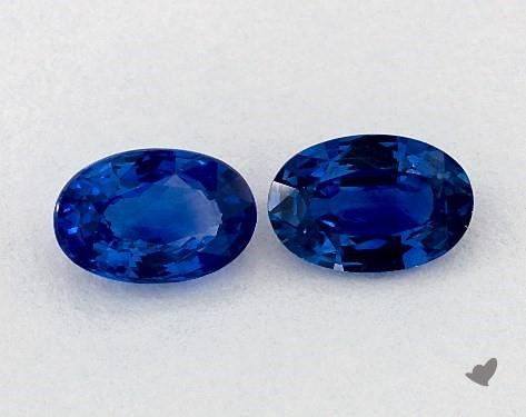 1.09 Total Carat Weight Oval Natural Blue Sapphires