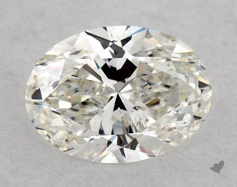 0.70 Carat H-VS2 Oval Cut Diamond