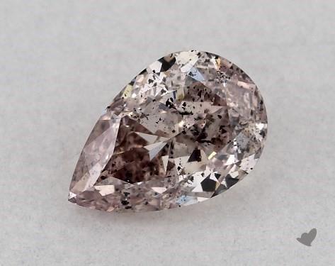 0.31 Carat FANCY BROWNISH PINK-I1 Pear Shape Diamond